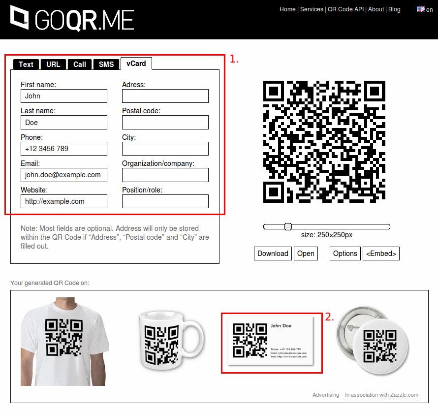 Contemporary Qr Code Generator For Business Cards Mold - Business ...